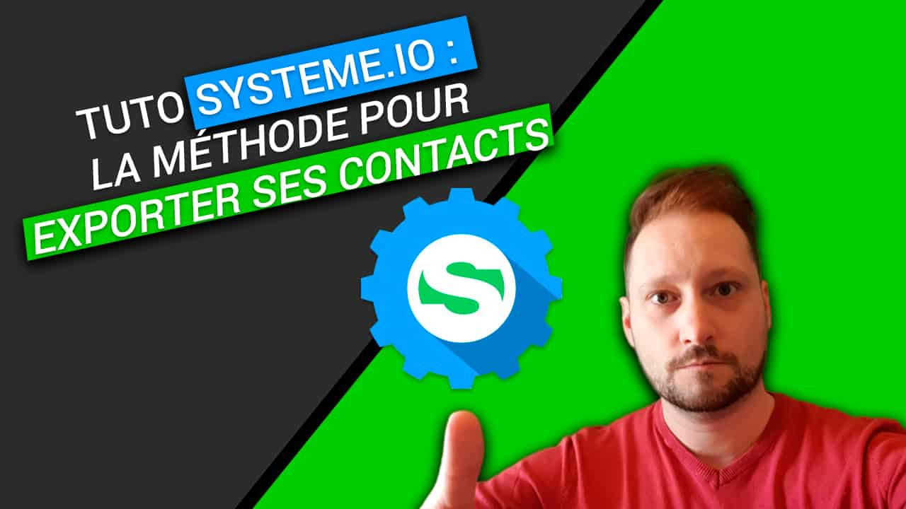systeme.io : exporter ses contacts