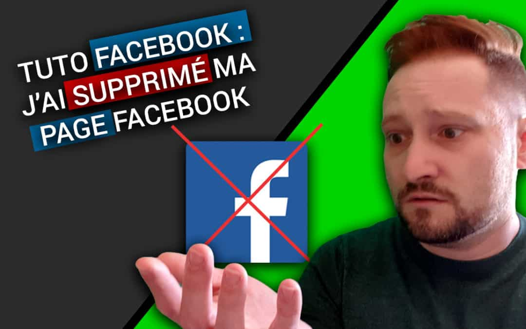 FACEBOOK : Comment SUPPRIMER Une PAGE FACEBOOK